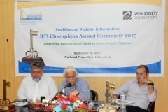 Senator Farhat Ullah Babar sharing the background that led to the development of Right of Access to Information Bill 2017