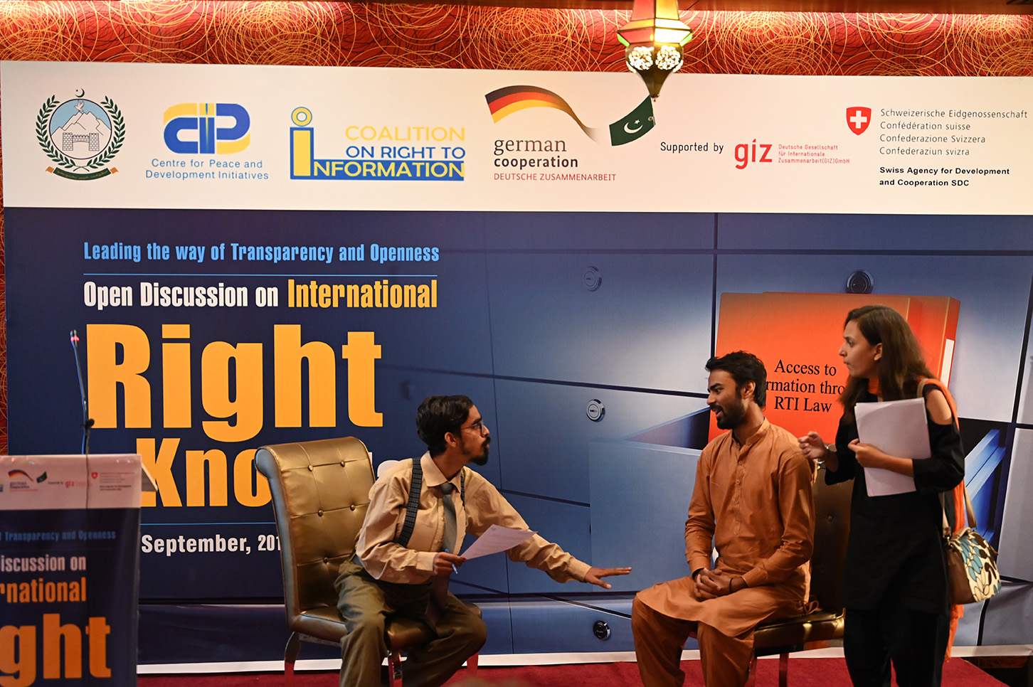A talented team of Centre for Communication Programs Pakistan performed a skit on RTI