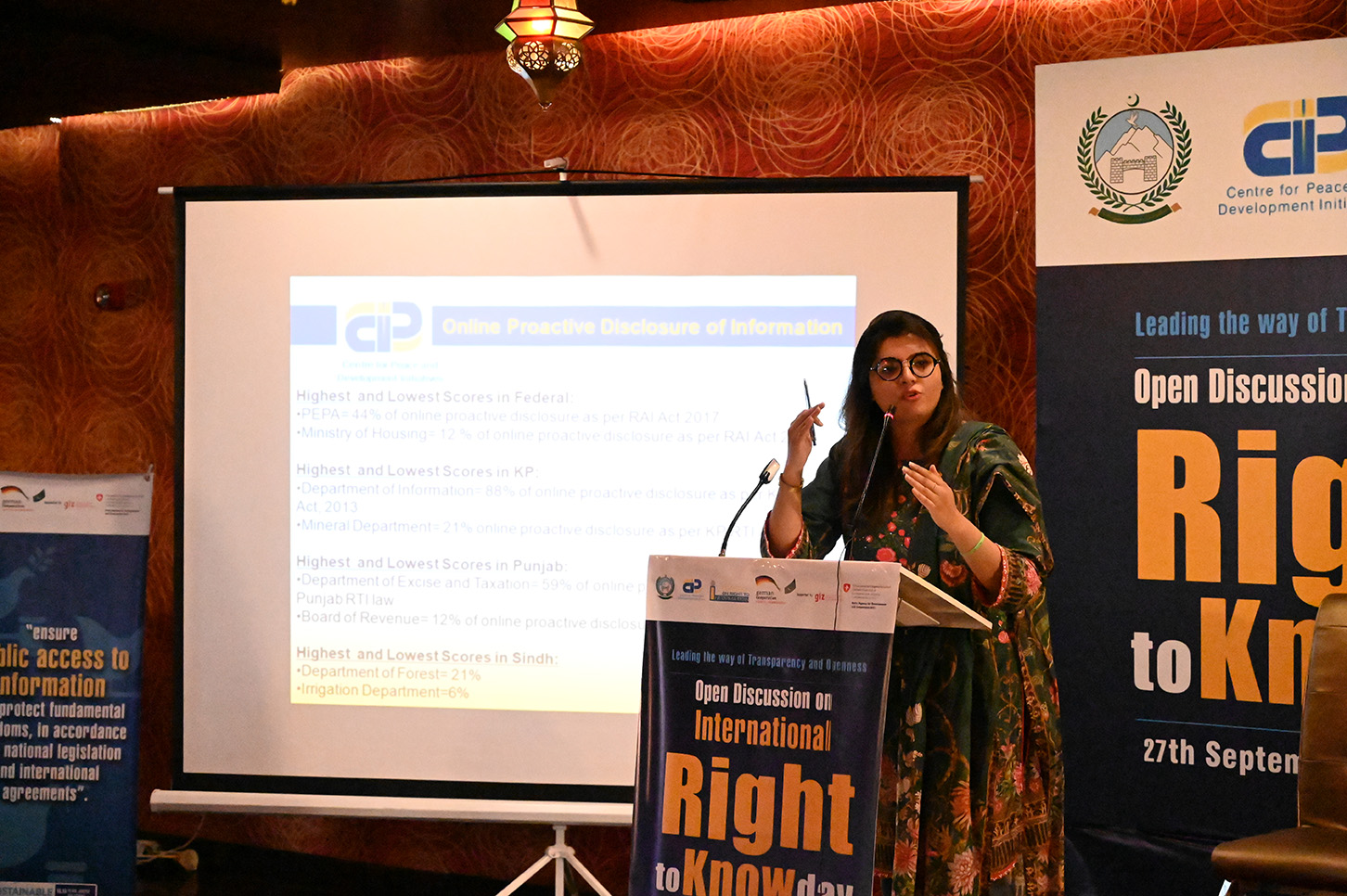 Program Manager CPDI shared the key findings of CPDI report on Status of RTI 2019