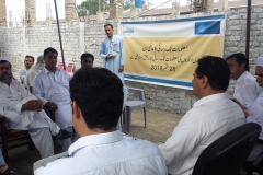 Saiban development organization held an awareness session with community in Mardan
