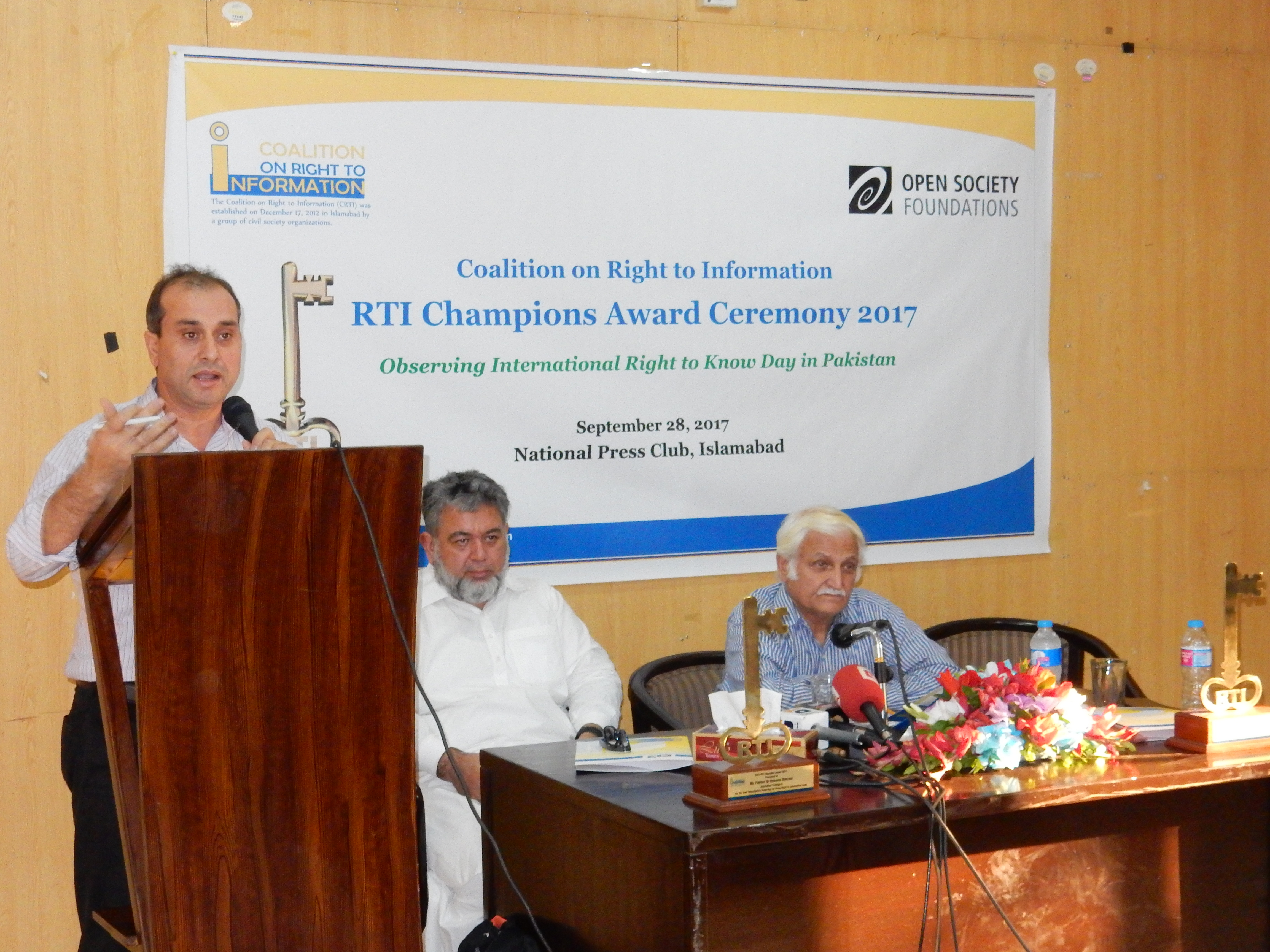 Mr. Anwar, Executive Director, Centre for Governance and Public Accountability, (CGPA) talking about the poor implementation status of existing RTI