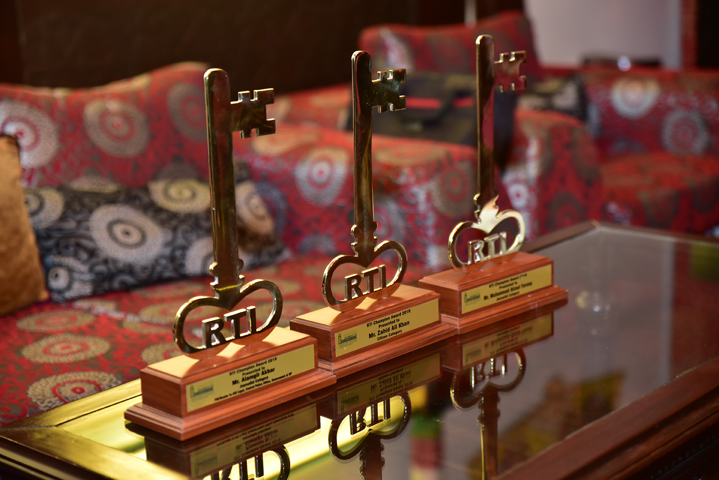 Trophies for Best users of RTI Laws 2019