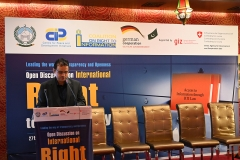 Mr. Sanjeev, head of GIZ LoGo program, interacted with the diverse group of participants